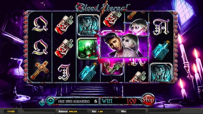 Blood Eternal Free Spins Feature