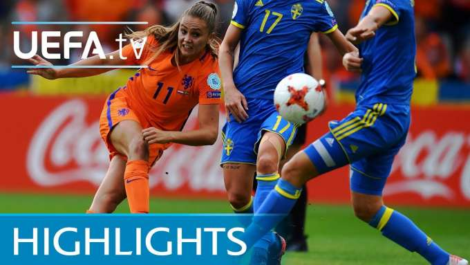 Women's EURO highlights: Netherlands 2-0 Sweden