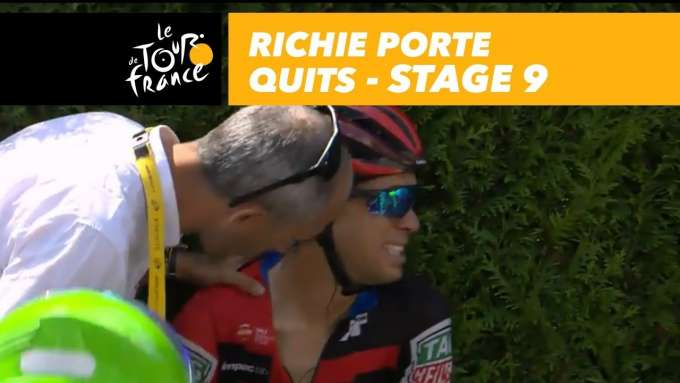 Crash in the peloton, Richie Porte quits - Stage 9 - Tour de France 2018