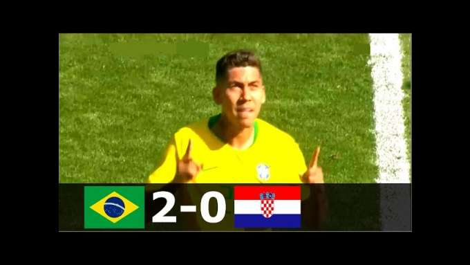 Brazil vs Croatia 2-0 - International Friendly 2018 - Highlights (English Commentary)